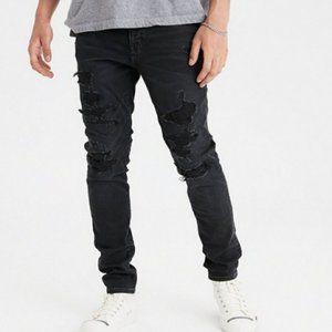 American Eagle Men's Distressed Denim Skinny Jeans